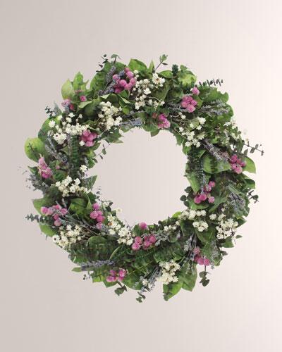 22 Lavender Meadow Wreath