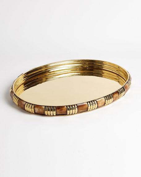 Medium Banded Bone and Brass Tray