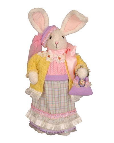 Mrs. Purple Bunny Decor
