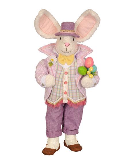 Mr. Purple Bunny Decor
