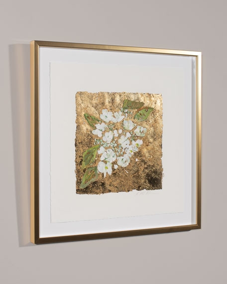 """Gold and Hydrangea"" Print Art by Robert Robinson"
