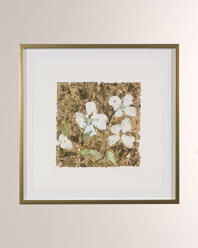 Gold and Dogwood Art Print by Robert Robinson
