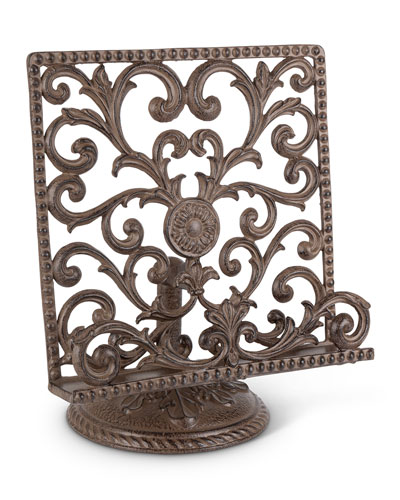 Metal Acanthus Leaf Cookbook Stand