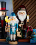 Santa Nutcracker At Fireplace