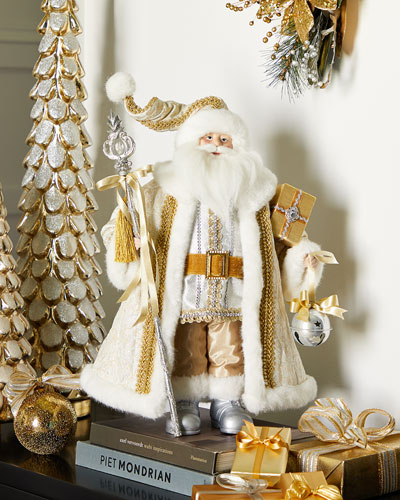 20 Gold/Silver Decorative Santa