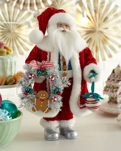 20 Candy Santa w/ Wreath & Ornament
