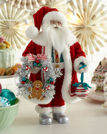 "20"" Candy Santa w/ Wreath & Ornament"