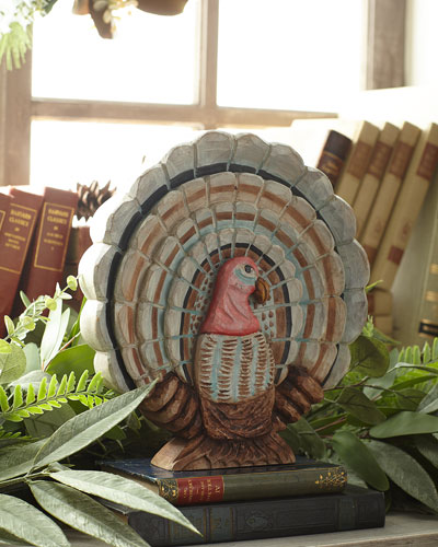Carved Flat Turkey Decoration