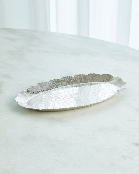 Small Hammered Oval Tray