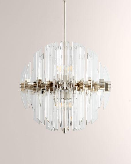 Zion 8-Light Sphere Pendant, Polished Nickel