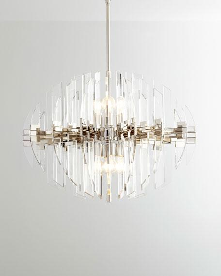 Zion 8-Light Oval Pendant, Polished Nickel