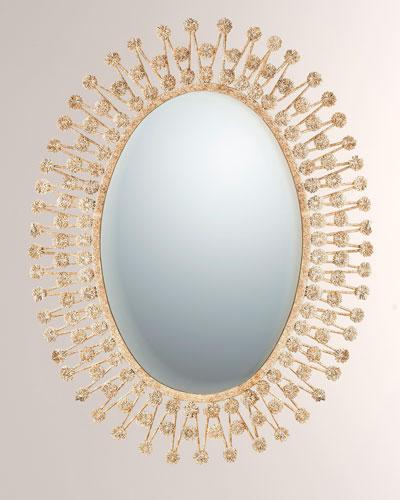 Intricate Flower Mirror