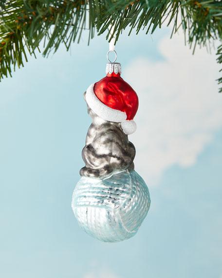 Cat On Yarn Christmas Ornament