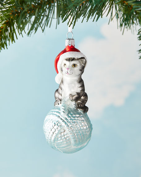 Exclusive Cat On Yarn Christmas Ornament