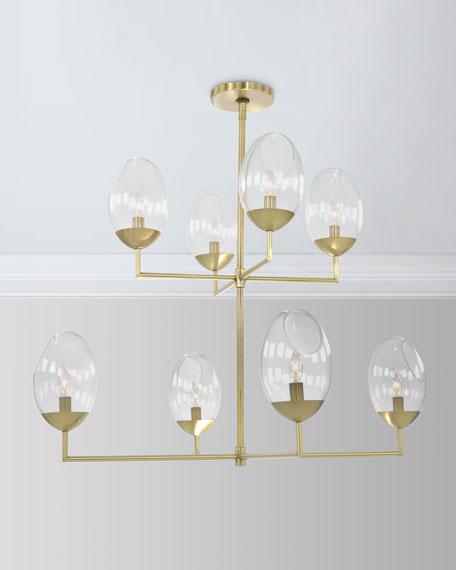 Eros: 8-Light Brass Chandelier