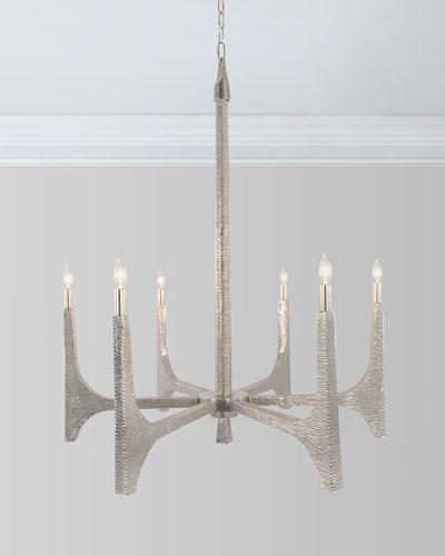 The Arc: Textured 6-Light Chandelier