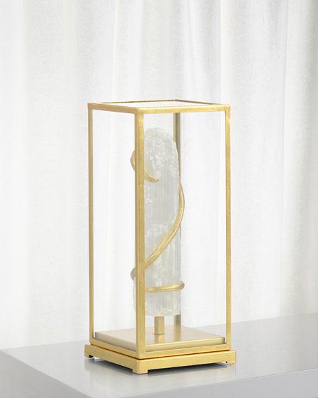 John-Richard Collection Selenite in Glass Decorative Accent