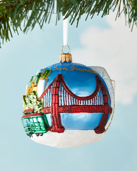 Exclusive SF Ball Christmas Ornament