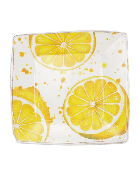Melamine Fruit Lemon Square Platter