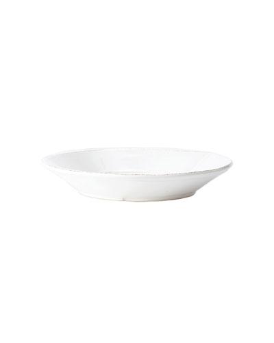Melamine Lastra White Shallow Bowl