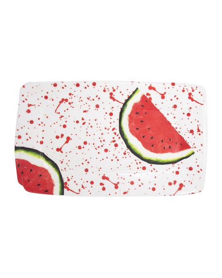 Melamine Fruit Watermelon Rectangular Platter