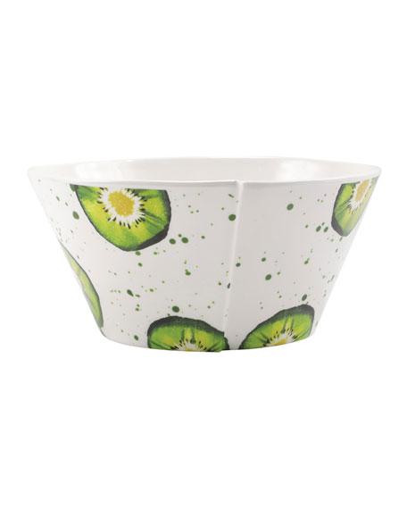 Melamine Fruit Kiwi Large Stacking Serving Bowl