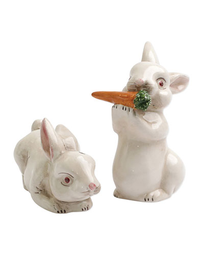 Spring Vegetables Bunny Salt & Pepper Shakers