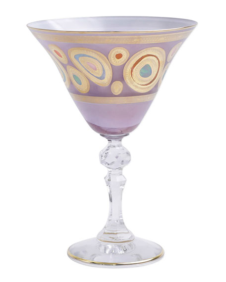 Regalia Purple Martini Glass
