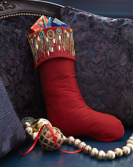 Exclusive Spiritual Stocking with Beaded Cuff