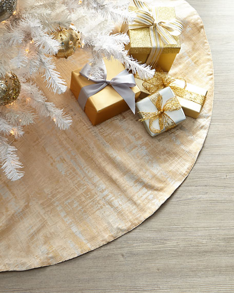 Exclusive Gold And Silver Tree Skirt