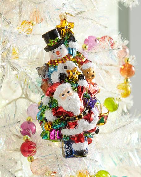 Glassware Art Studio Santa, Snowman & Animals Christmas