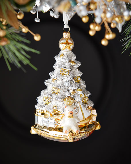 Exclusive Silver And Gold Tree Christmas Ornament
