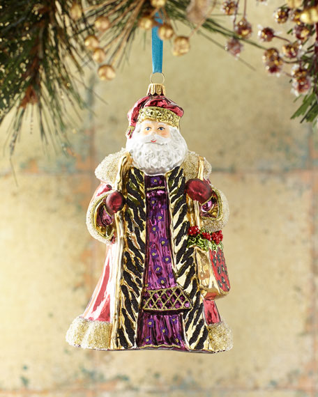 Burgundy Santa Christmas Ornament