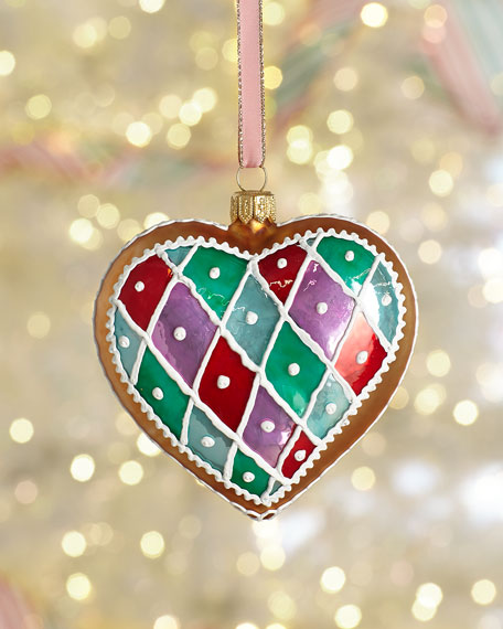 Exclusive Gingerbread Heart Christmas Ornament