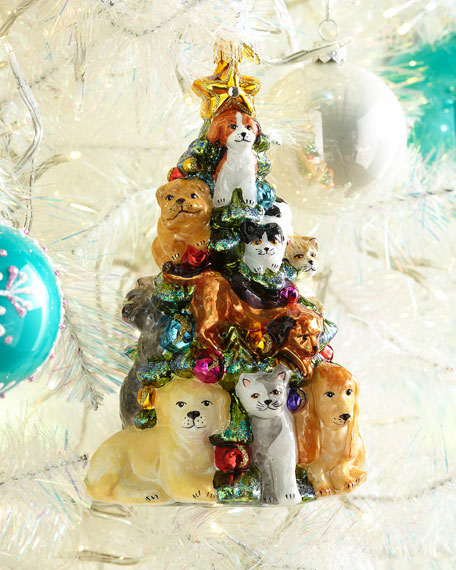 Exclusive John Huras Dog Christmas Tree Ornament