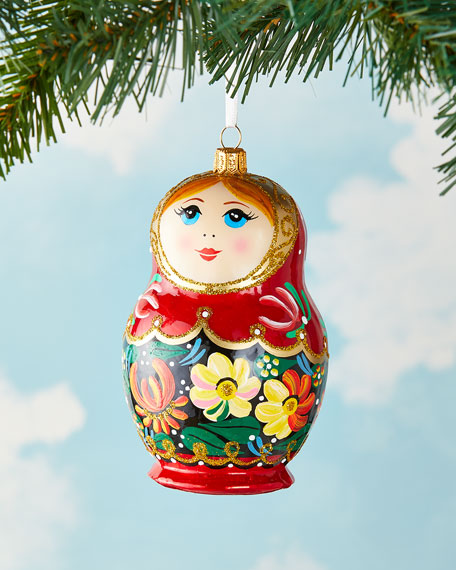 Exclusive Vintage Matryoshka Doll Christmas Ornament