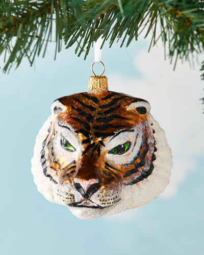 Tiger Head Christmas Ornament