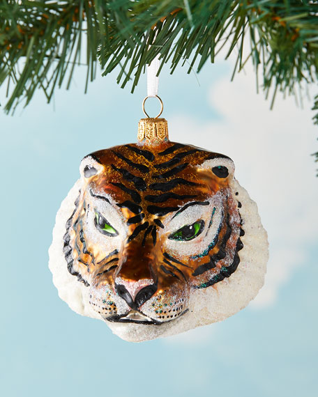 Tiger Head Christmas Ornament