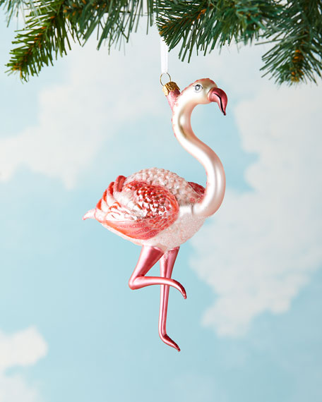 Flamingo Christmas Ornament
