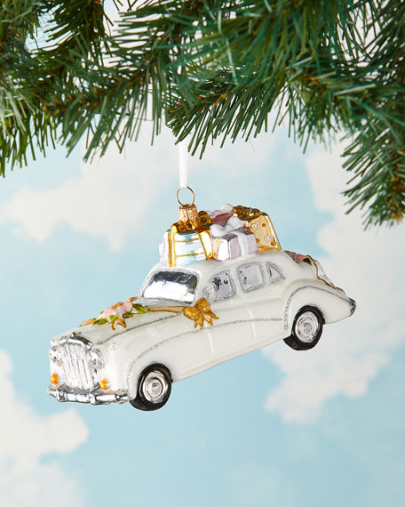 Exclusive Wedding Car Christmas Ornament