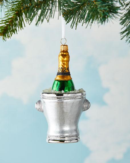 Champagne Bucket 2021 Christmas Ornament