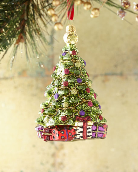 Exclusive Burgundy Tree Christmas Ornament