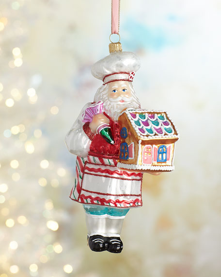 Glassware Art Studio Pastry Santa Christmas Ornament