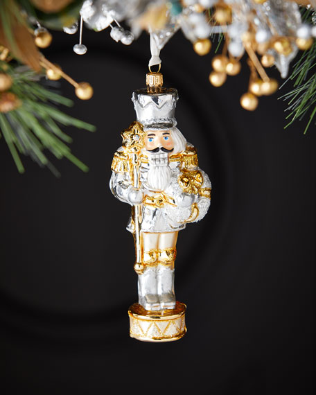 Exclusive Golden Nutcracker Christmas Ornament