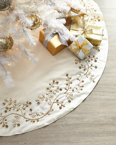 Gold Vine Tree Skirt