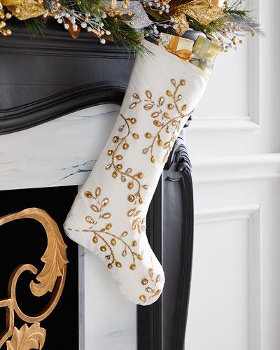 Gold Vine Stocking (No Cuff)