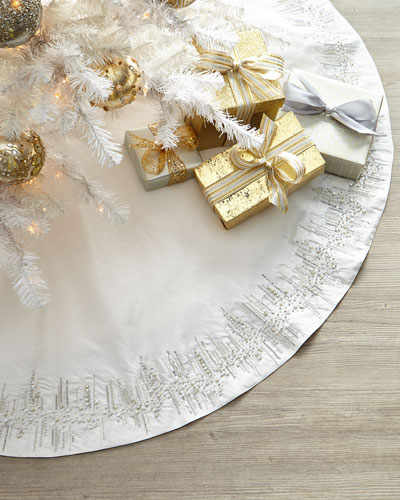 Silver & White Tree Skirt