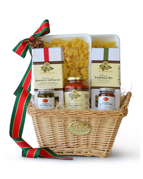 Addolorata Wicker Hamper Gift Basket