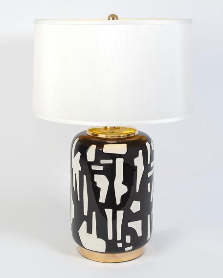 Abstract Lamp, Black/White
