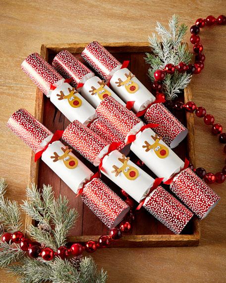 Robin Reed 6 Racing Reindeer Christmas Crackers